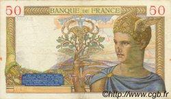 50 Francs CÉRÈS modifié FRANCE  1939 F.18.30 TTB