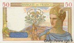50 Francs CÉRÈS modifié FRANCE  1939 F.18.30 TTB+
