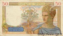 50 Francs CÉRÈS modifié FRANCE  1939 F.18.31 TTB