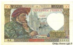 50 Francs JACQUES CŒUR FRANCE  1940 F.19.01 pr.SUP