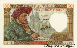 50 Francs JACQUES CŒUR FRANCE  1941 F.19.05 UNC-