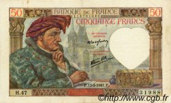 50 Francs JACQUES CŒUR FRANCE  1941 F.19.07 SUP