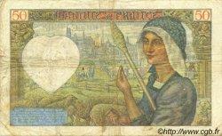 50 Francs JACQUES CŒUR FRANCE  1941 F.19.09 TTB