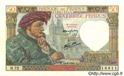 50 Francs JACQUES CŒUR FRANCE  1941 F.19.09 TTB+ à SUP
