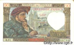 50 Francs JACQUES CŒUR FRANCE  1941 F.19.11 SUP
