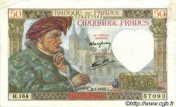 50 Francs JACQUES CŒUR FRANCE  1942 F.19.18 pr.SPL