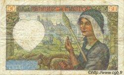 50 Francs JACQUES CŒUR FRANCE  1942 F.19.20 TB