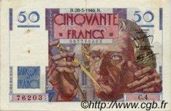 50 Francs LE VERRIER FRANCE  1946 F.20.02 TTB+