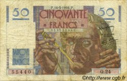 50 Francs LE VERRIER FRANCE  1946 F.20.04 B+