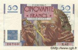 50 Francs LE VERRIER FRANCE  1946 F.20.06 SUP