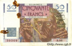 50 Francs LE VERRIER FRANCE  1947 F.20.09 TB