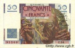 50 Francs LE VERRIER FRANCE  1947 F.20.09 SUP