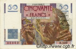 50 Francs LE VERRIER FRANCE  1948 F.20.10 SUP+