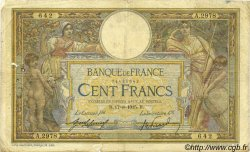 100 Francs LUC OLIVIER MERSON sans LOM FRANCE  1915 F.23.07 B+