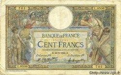 100 Francs LUC OLIVIER MERSON sans LOM FRANCE  1922 F.23.15 pr.TB
