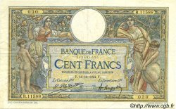 100 Francs LUC OLIVIER MERSON grands cartouches FRANCE  1924 F.24.02 TTB+