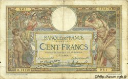 100 Francs LUC OLIVIER MERSON grands cartouches FRANCE  1926 F.24.04 B