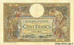 100 Francs LUC OLIVIER MERSON grands cartouches FRANCE  1927 F.24.06 pr.TTB