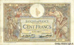 100 Francs LUC OLIVIER MERSON grands cartouches FRANCE  1928 F.24.07 TB+