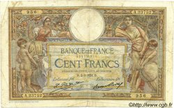 100 Francs LUC OLIVIER MERSON grands cartouches FRANCE  1929 F.24.08 pr.TB