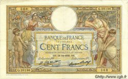 100 Francs LUC OLIVIER MERSON grands cartouches FRANCE  1930 F.24.09 TTB