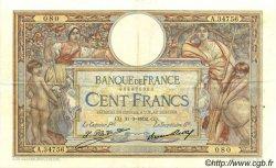 100 Francs LUC OLIVIER MERSON grands cartouches FRANCE  1932 F.24.11 TTB+ à SUP
