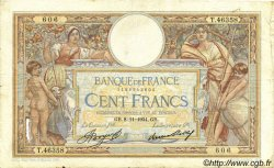 100 Francs LUC OLIVIER MERSON grands cartouches FRANCE  1934 F.24.13 pr.TB