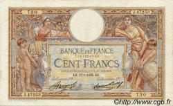 100 Francs LUC OLIVIER MERSON grands cartouches FRANCE  1935 F.24.14 TTB+