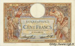 100 Francs LUC OLIVIER MERSON grands cartouches FRANCE  1935 F.24.14 TTB+