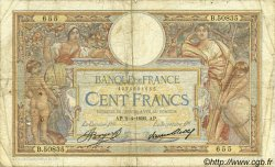 100 Francs LUC OLIVIER MERSON grands cartouches FRANCE  1936 F.24.15 B+