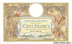 100 Francs LUC OLIVIER MERSON grands cartouches FRANCE  1936 F.24.15 SUP