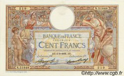 100 Francs LUC OLIVIER MERSON grands cartouches FRANCE  1936 F.24.15 SUP+