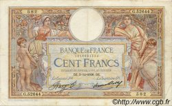 100 Francs LUC OLIVIER MERSON grands cartouches FRANCE  1936 F.24.15 TTB