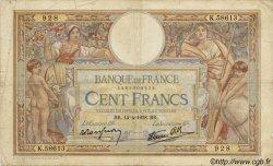 100 Francs LUC OLIVIER MERSON type modifié FRANCE  1937 F.25 TB