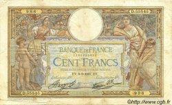 100 Francs LUC OLIVIER MERSON type modifié FRANCE  1937 F.25.01 TB+