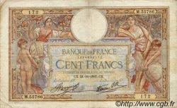 100 Francs LUC OLIVIER MERSON type modifié FRANCE  1937 F.25.03 B à TB