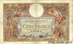 100 Francs LUC OLIVIER MERSON type modifié FRANCE  1937 F.25.04 pr.B