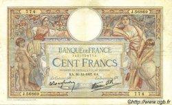 100 Francs LUC OLIVIER MERSON type modifié FRANCE  1937 F.25.07 TTB