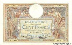 100 Francs LUC OLIVIER MERSON type modifié FRANCE  1938 F.25.08 TTB à SUP