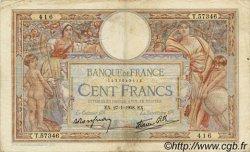 100 Francs LUC OLIVIER MERSON type modifié FRANCE  1938 F.25.09 TB
