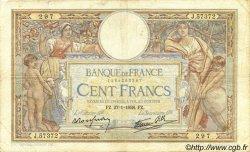 100 Francs LUC OLIVIER MERSON type modifié FRANCE  1938 F.25.09 B