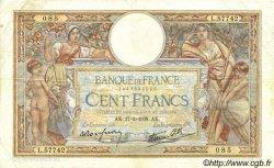 100 Francs LUC OLIVIER MERSON type modifié FRANCE  1938 F.25.11 TB
