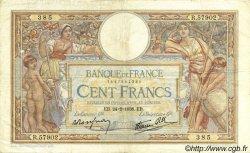 100 Francs LUC OLIVIER MERSON type modifié FRANCE  1938 F.25.12 TB+