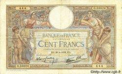 100 Francs LUC OLIVIER MERSON type modifié FRANCE  1938 F.25.16