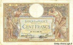 100 Francs LUC OLIVIER MERSON type modifié FRANCE  1938 F.25.19 TB+