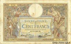 100 Francs LUC OLIVIER MERSON type modifié FRANCE  1938 F.25.22 B