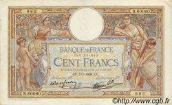 100 Francs LUC OLIVIER MERSON type modifié FRANCE  1938 F.25.25 TTB