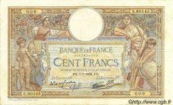100 Francs LUC OLIVIER MERSON type modifié FRANCE  1938 F.25.25 pr.TTB