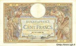 100 Francs LUC OLIVIER MERSON type modifié FRANCE  1938 F.25.26 TTB
