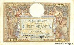 100 Francs LUC OLIVIER MERSON type modifié FRANCE  1938 F.25.27 TTB+